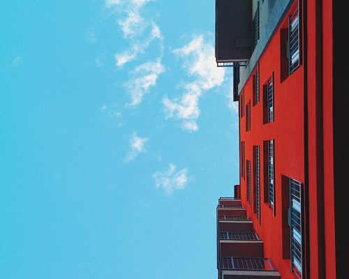 building, architecture, red